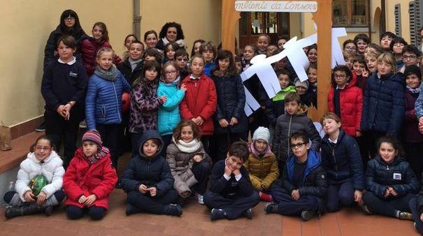 Gli alunni della primaria San Giuseppe di Firenze