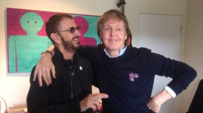 «Macca» e Ringo in sala d'incisione