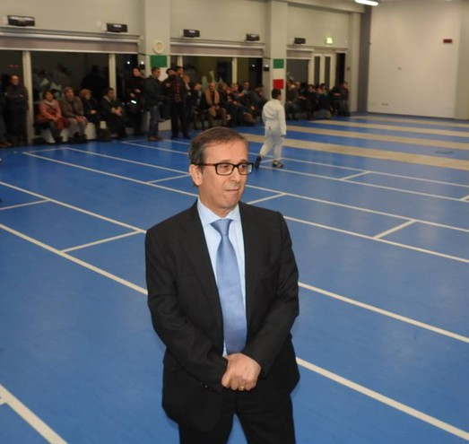 Il presidente della Società Schermistica Lughese, Raffaele Clò (Foto Scardovi)