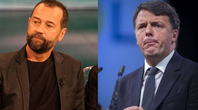 Fabio Volo (sx) e Matteo Renzi (LaPresse/ImagoE)