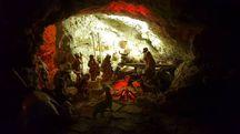 Gricignano (Arezzo), il presepe nella grotta