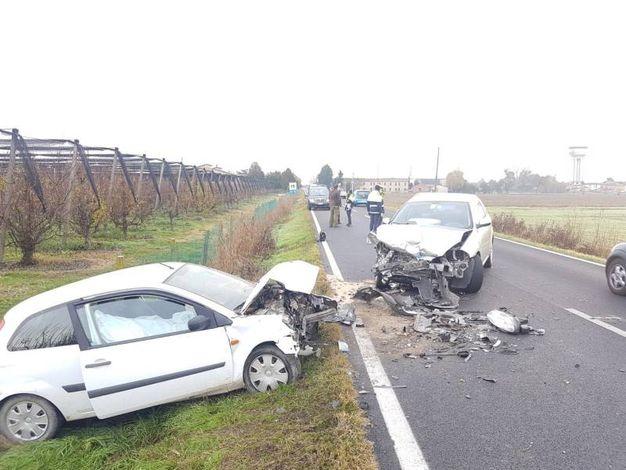 Il tragico incidente è avvenuto questa mattina tra Lendinara e Badia Polesine (foto Donzelli)