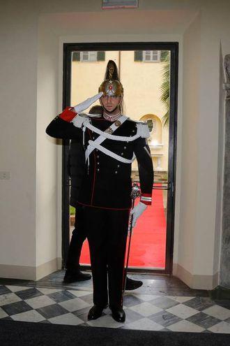 Il corazziere attende il Presidente foto Valtriani/Teta