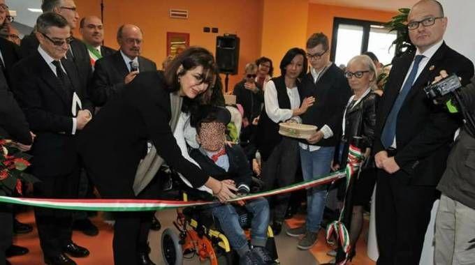 La presidente della Camera Laura Boldrini al taglio del nastro