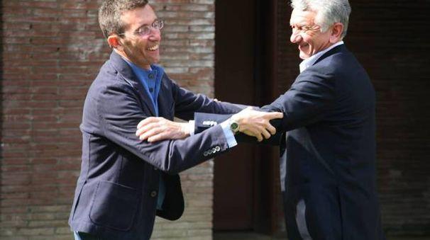 Ernesto Sellitto con il sindaco Andrea Massironi