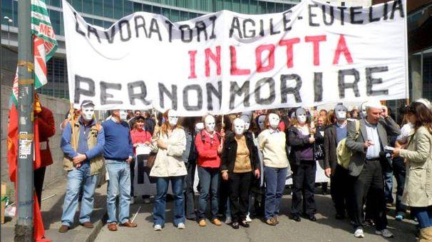 Una protesta dei lavoratori