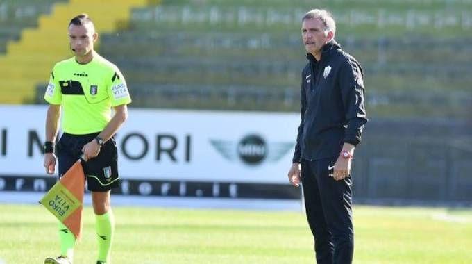 L'allenatore del Picchio Fulvio Fiorin