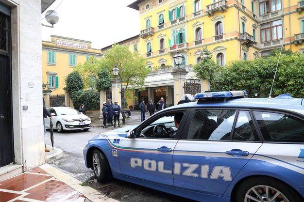 Prima di andare a Pistoia, il presidente Mattarella si è fermato a Montecatini per il Pranzo (foto Goiorani)