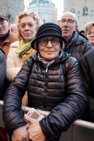 Pistoiesi pronti per salutare il Presidente della Repubblica (foto Castellani)