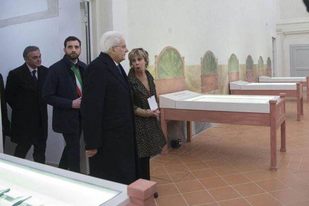 Il Presidente della Repubblica visita il Museo dello Spedale del Ceppo, (foto  ANSA/UFFICIO STAMPA QUIRINALE/ FRANCESCO AMMENDOLA)
