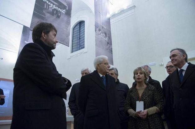 Il Presidente della Repubblica col ministro Franceschini in visita al Museo dello Spedale del Ceppo, (foto  ANSA/UFFICIO STAMPA QUIRINALE/ FRANCESCO AMMENDOLA)