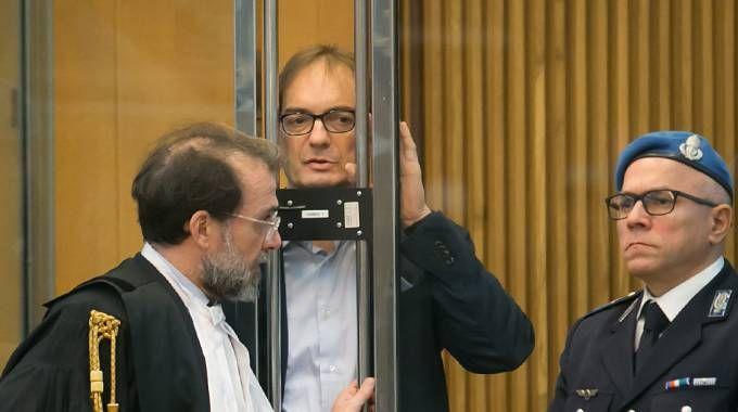 Matteo Cagnoni durante il processo a Ravenna (Foto Zani)