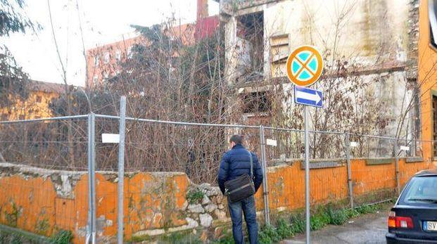 La struttura degradata dell'ex Garibaldi