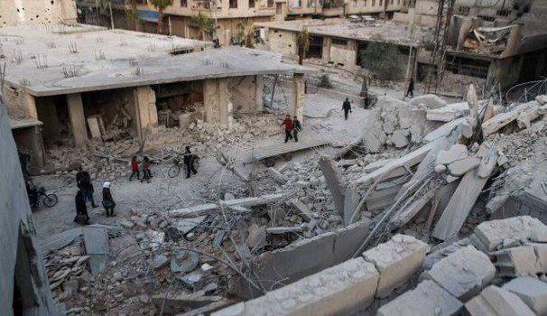 Devastazione in Siria (Afp)