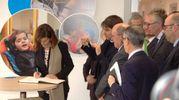 La presidente della Camera Laura Boldrini all'inaugurazione del primo lotto del centro nazionale a Osimo (foto Dire)
