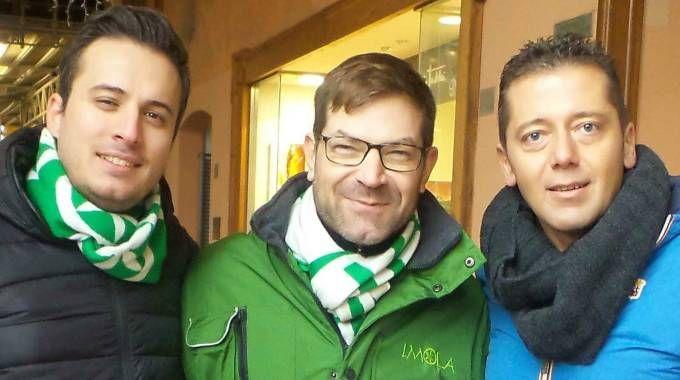 Daniele Marchetti, Marco Casalini e Simone Carapia (Lega nord)