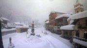 Crissolo, nel Cuneese dove sono caduti 80 centimetri di neve (Ansa)