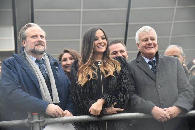 Il ministro dell'Ambiente Gian Luca Galletti, assieme alla madrina di questa edizione Giorgia Palmas (foto Schicchi)