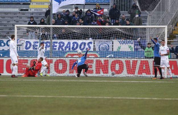Novara-Empoli (foto LaPresse)
