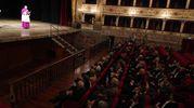 Il discorso del nuovo arcivescovo Rocco Pennacchio a teatro  (foto Zeppilli)