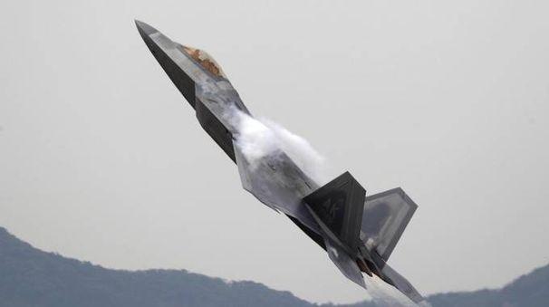 Un F-22 'Raptor' dell'Usa Air Force (Ansa)