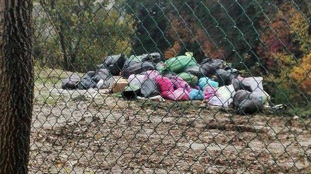 Lo scempio: i rifiuti deturpano il verde