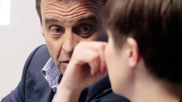 Il patron dell'Empoli, Fabrizio Corsi, con il sindaco Brenda Barnini durante uno dei tanti incontri sul nuovo stadio; sotto l'ad Francesco Ghelfi