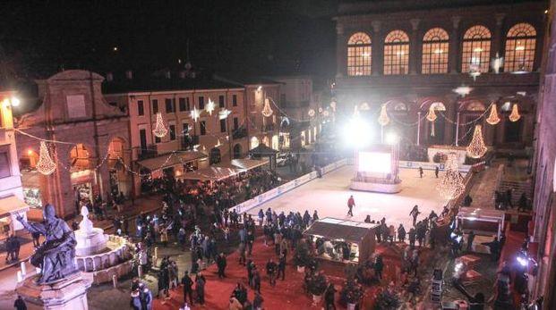 La pista di pattinaggio Rimini Christmas square ( Foto PAsquale Bove)