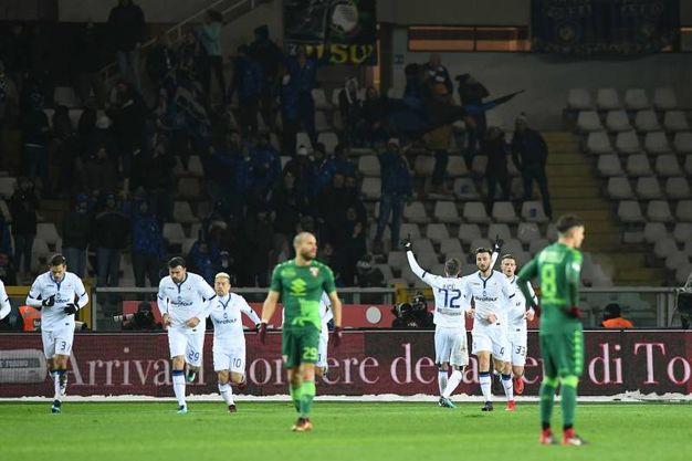 Ilicic dell'Atalanta esulta per il gol dell'1-1