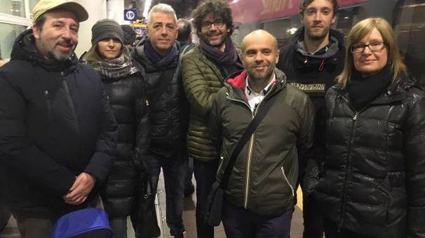 La delegazione della sinistra polesana verso Roma