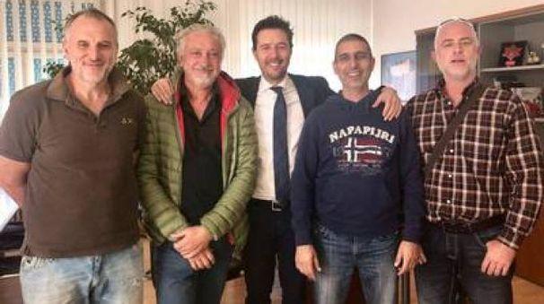 L'assessore allo Sport Fabrizio Rossi e i vertici delle società sportive