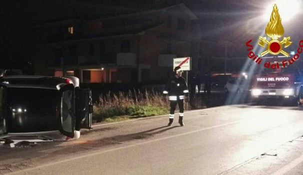 Incidente a Ferruccia, nel comune di Quarrata