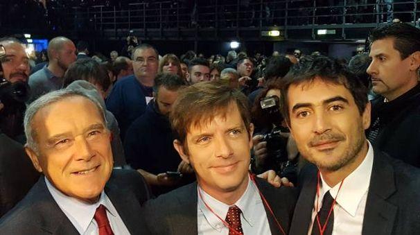 Pietro Grasso, Pippo Civati e Nicola Fratoianni al battesimo di 'Liberi e uguali' (Dire)