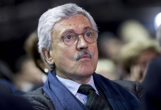 Presente anche Massimo D'Alema (Ansa)