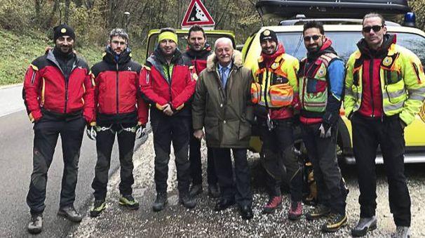 La squadra del Corpo Nazionale Soccorso Alpino e Speleologico