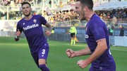 Fiorentina-Sassuolo, esultanza dopo la rete di Veretout (Foto Germogli)