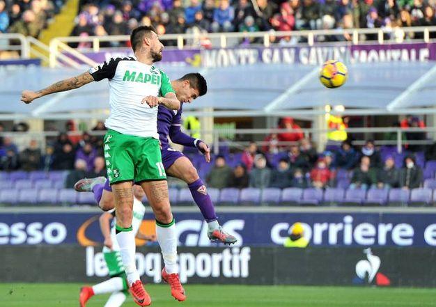 Il gol di Simeone al 32' (foto LaPresse)