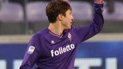 Fiorentina-Sassuolo; Chiesa esulta dopo il gol: è la terza rete per la squadra di Pioli(Foto Germogli)