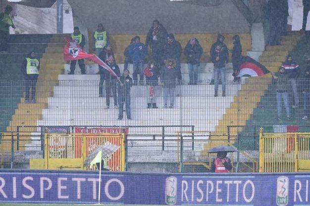 I supporter del Carpi ad Avellino (foto LaPresse)