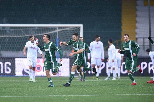 Molina esulta per il gol dell'1-0 (foto LaPresse)