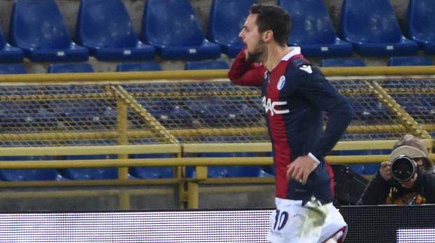 Mattia Destro esulta dopo la rete (foto Schicchi)