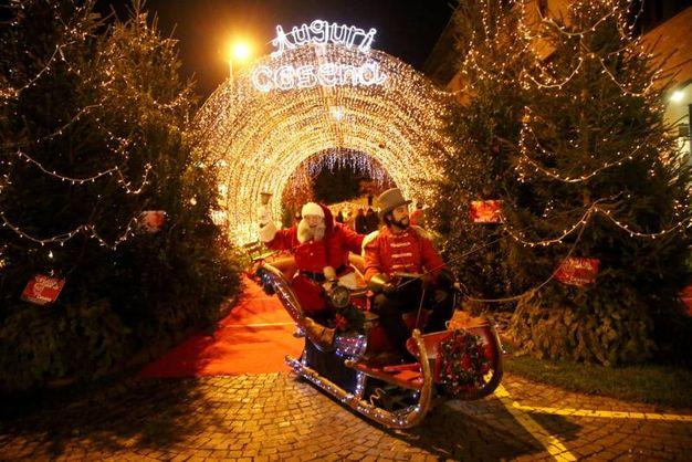 Cesena addobbata per il Natale (foto Ravaglia)