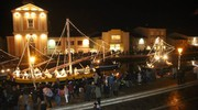 La tradizionale Natività galleggiante resterà aperta fino al 14 gennaio (foto Ravaglia)