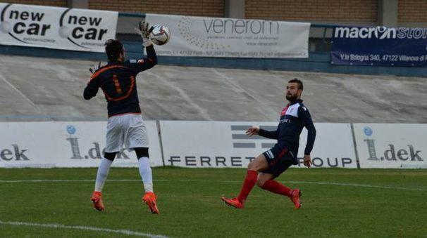 La partita fra Forlì e Colligiana (foto Frasca)
