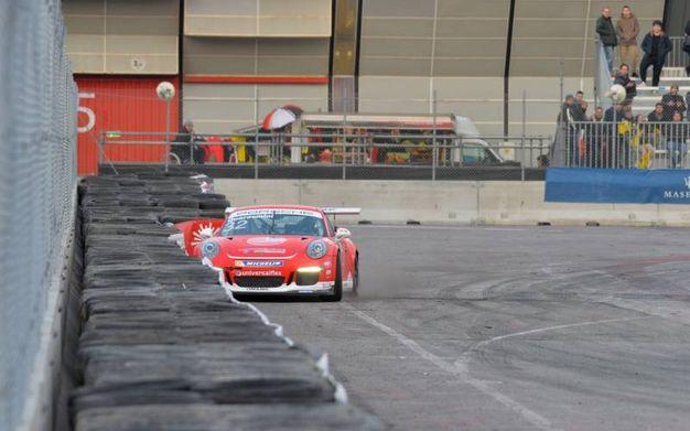 Gianmarco Quaresmini perde il controllo in curva (foto di Luigi Sani)