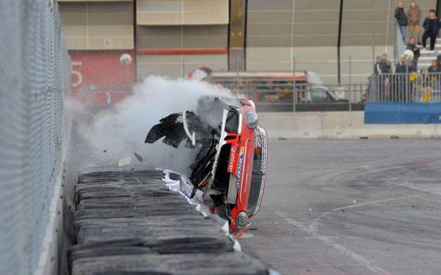 La Porsche 991 GT3 Cup perde pezzi (foto di Luigi Sani)