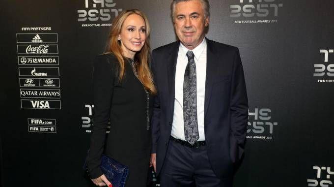 Carlo Ancelotti assieme alla compagna Mariann Barrena McClay