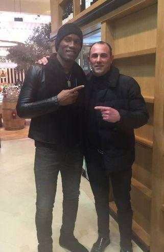 Didier Drogba e Moreno Ciccioli a Londra