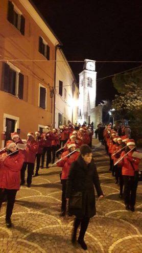 Borgopresepe, la banda di Fiorenzuola-Colombarone in gran spolvero