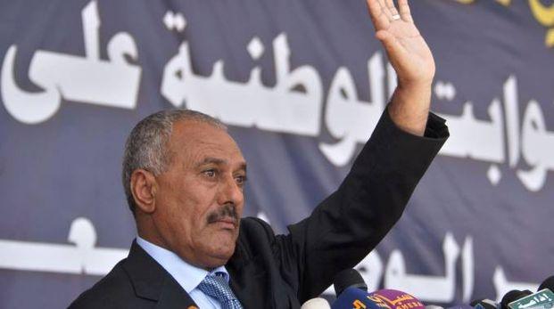 L'ex presidente dello Yemen Ali Abdullah Saleh (Afp)